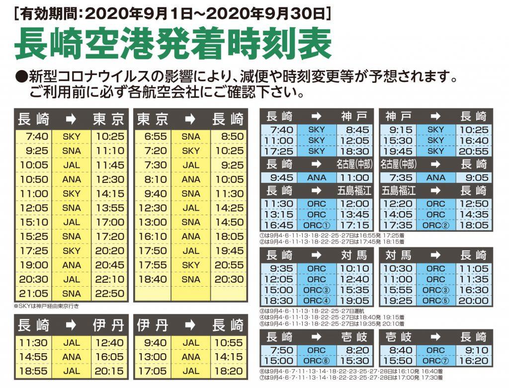長崎空港発着時刻表